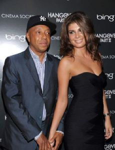 Angela Martini and Russell Simmons