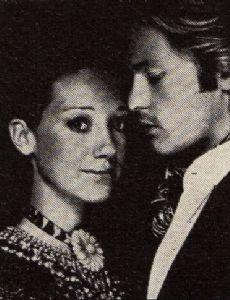 Helmut Berger and Marisa Berenson