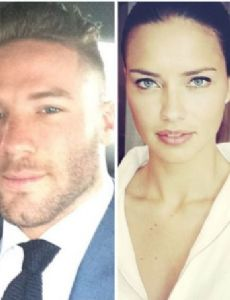 Adriana Lima and Julian Edelman