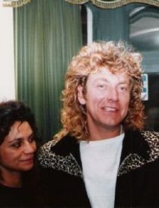 Robert Plant and Shirley Wilson