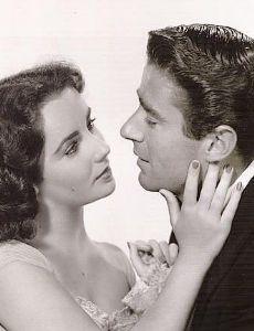 Elizabeth Taylor and Peter Lawford