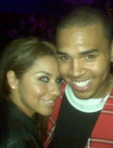 Joanna Hernandez and Chris Brown