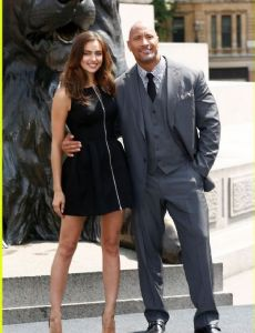 Irina Shayk and Dwayne Johnson