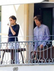 Mick Jagger and Melanie Hamrick (dancer)