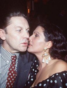 Helmut Berger and Francesca Guidato