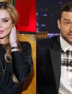Lindsay Lohan and Justin Timberlake