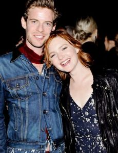 Harry Treadaway with girlfriend Holiday Grainger