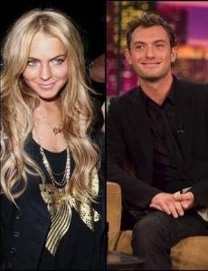 Lindsay Lohan and Jude Law