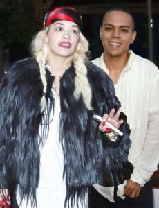 Evan Ross and Rita Ora