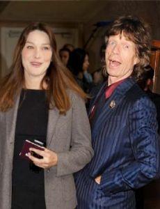 Carla Bruni and Mick Jagger