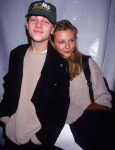 Bridget Hall and Leonardo DiCaprio