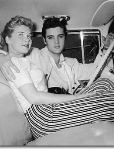 Elvis Presley and Yvonne Lime Fedderson