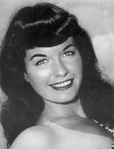 Katharine Hepburn and Bettie Page