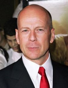 Alisha Klass and Bruce Willis