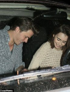 Lily Collins and Thomas Cocquerel