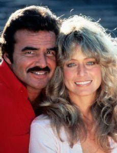 Burt Reynolds and Farrah Fawcett