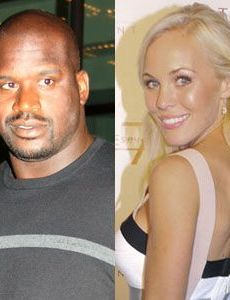 Shaquille O'Neal und Dominica Westling