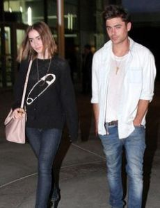 Lily Collins and Zac Efron