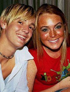 Aaron Carter and Lindsay Lohan
