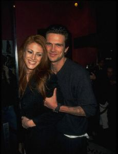 Angie Everhart and Ashley Hamilton
