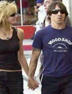 Anthony Kiedis and Heidi Klum