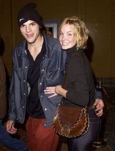 Ashley Scott and Ashton Kutcher