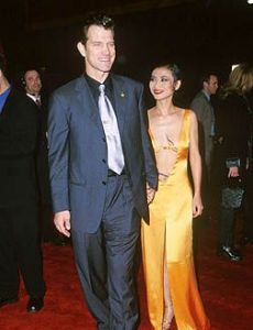 Bai Ling and Chris Isaak