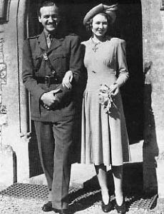 David Niven and Primula Rollo