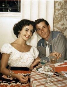Elizabeth Taylor and Nicholas Conrad Hilton Jr.