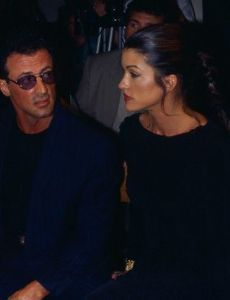 Janice Dickinson and Sylvester Stallone