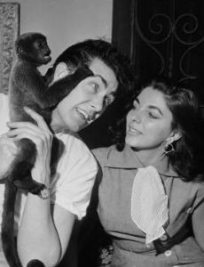 Joan Collins and Maxwell Reed