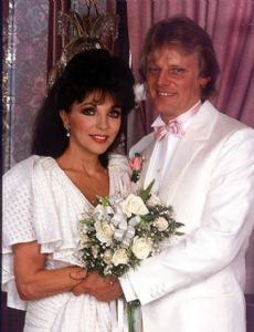 Joan Collins and Peter Holm