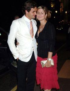 Roger Federer and Miroslava Vavrinec