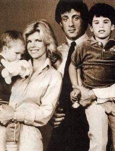 Sasha Czack and Sylvester Stallone