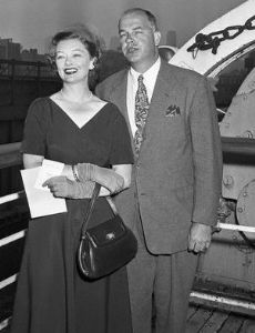 Myrna Loy and Howland H. Sergeant