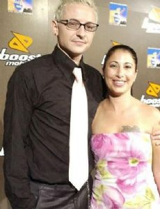 Chester Bennington and Samantha Bennington