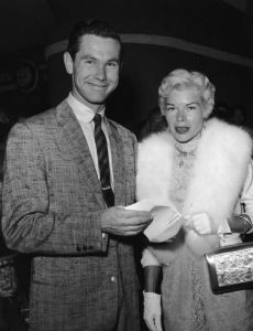Johnny Carson and Joan Morrill Wolcott