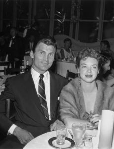 Jack Palance and Virginia Baker
