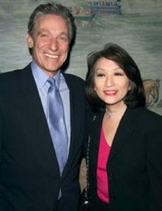 Connie Chung and Warren Beatty