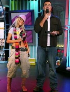 Christina Aguilera and Carson Daly