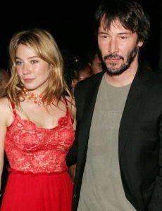 Keanu Reeves and Lynn Collins