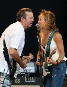 Sheryl Crow and Eric Clapton