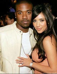 Ray-J and Kim Kardashian