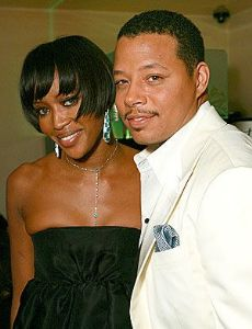 Terrence Howard and Naomi Campbell