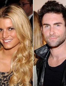 Adam Levine and Jessica Simpson