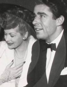 Lucille Ball and Peter Lawford