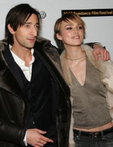 Adrien Brody and Keira Knightley