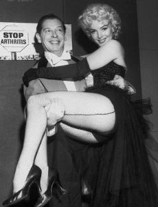 Marilyn Monroe and Milton Berle