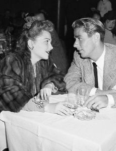 Anne Baxter and Peter Lawford