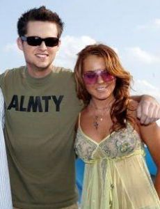 Damien Fahey and Lindsay Lohan
